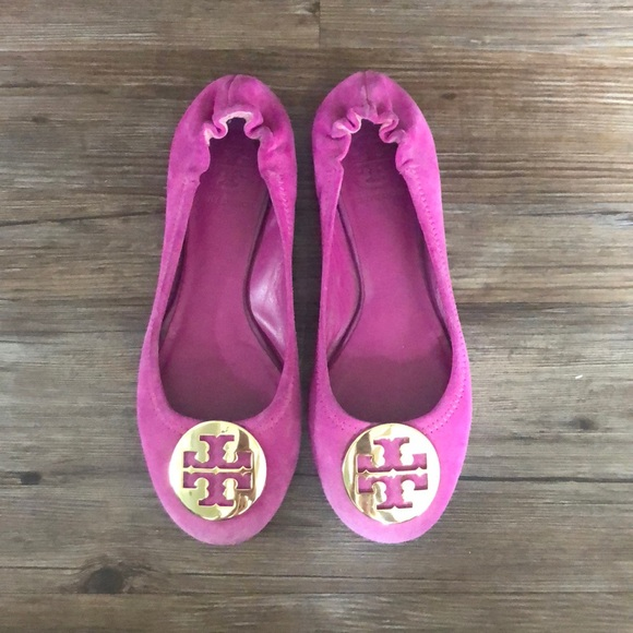 5fb941b0f0b0 Tory Burch Shoes - Tory Burch Pink Suede Ballet Flats in Size 6.5